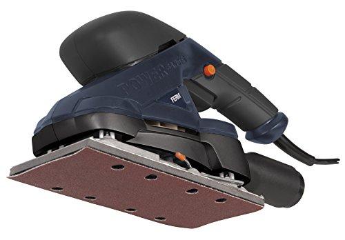 FERM Schwingschleifer 180W - Staubabsaugung Adapter - mit Soft griff - Inkl. 5 Schleifblätter P80 und 5 Schleifblätter P120