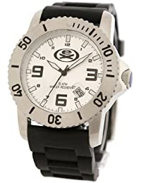 EX The Gent Watch with Silver Dial and Black Strap EX-28-G01
