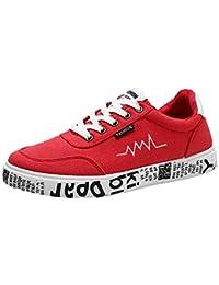 ☺HWTOP Herren Sneakers Sportschuhe Laufschuhe Plateauschuhe Turnschuhe Fashion Männer Schnürstiefel Schuhe Canvas Schuhe Schuhe Trainer Outdoor Freizeitschuhe Fitnessschuhe mit Klettverschluss