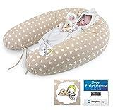 Sei Design, Cuscino per allattamento, per gravidanza | imbottitura: tessuto privo di sostanze nocive, con palline di fibra 3D, certificazione Ökotex Rivestimento con zip e ricamo di qualità.