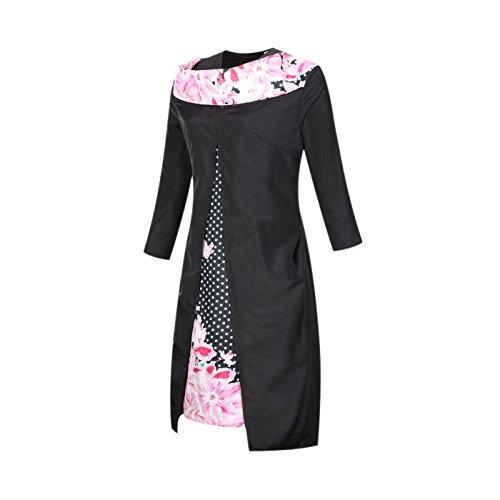 Dissa DS01 Damen Mode Rockabilly Swing Kleider Rosa