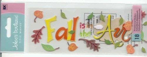 Jolee's Boutique Titlewave Stickers, Fall Is In The Air by Jolee's Boutique Jolees Boutique-air