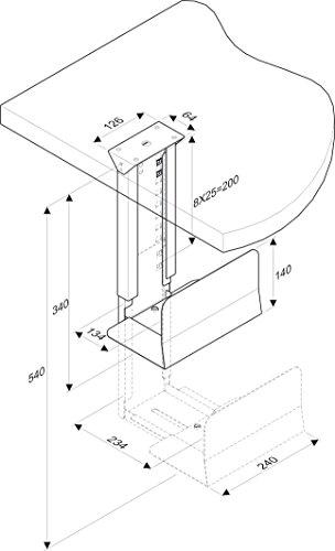 ROLINE PC Halterung   Computerhalterung Untertisch   Tischhalterung in silber - 3
