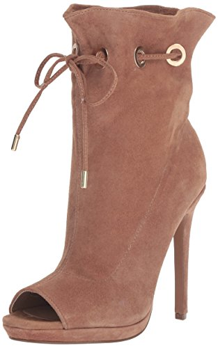 Steve Madden Womens Cavalier Ankle Bootie Camel Suede