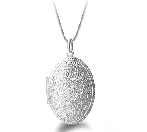 Preisvergleich Produktbild Hosaire Halskette Mode Silber Farbe Spiegelkasten Necklace Anhänger Damen Clavicle Kette Schmuck Zubehör
