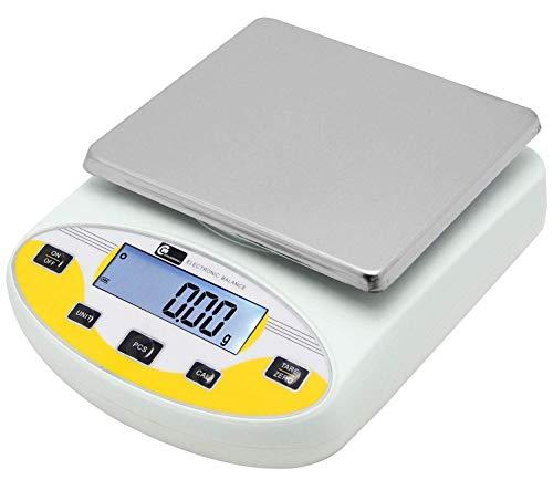 CGOLDENWALL Balanza de Precisión Eléctrica 5000g, 0.01g Báscula Digital con Funciones de...