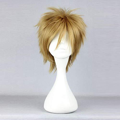 Anime Perücke braun Himmel Perücke Männer flauschige kurze Haare