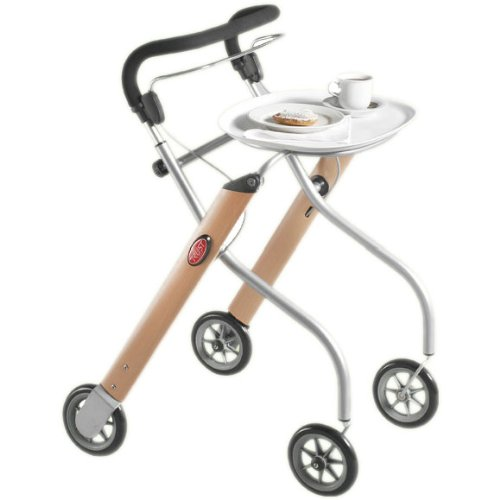 Trust Care Indoor Rollator Let\'s Go Holz silber