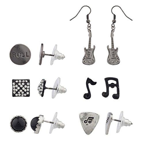 lux-accessori-orlo-tono-rock-n-roll-orecchini-set-6pc