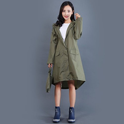 ALXC- Adult Mode Trenchcoat Regenmantel Poncho, Regenmantel Girl Fashion Poncho Adult Damen Windbreaker Regenmantel Reisen Eine Trockene Ultra Leichte Regenmantel (Farbe : F, größe : M)
