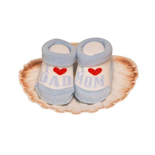 De regalo de calcetines para bebé Regalo único para baby shower o recién nacido para niños y niñas 1 par 0-3 meses 2