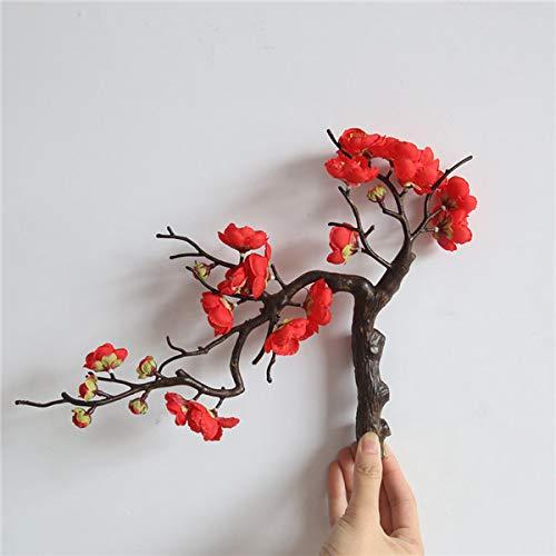 WG Künstliche Blumen billig Seide gefälschte Blumen Pflaume Blume Hochzeit Bouquet Party Dekoration künstliche Topfblumen M4 (Billige Künstliche Blume Bouquet)