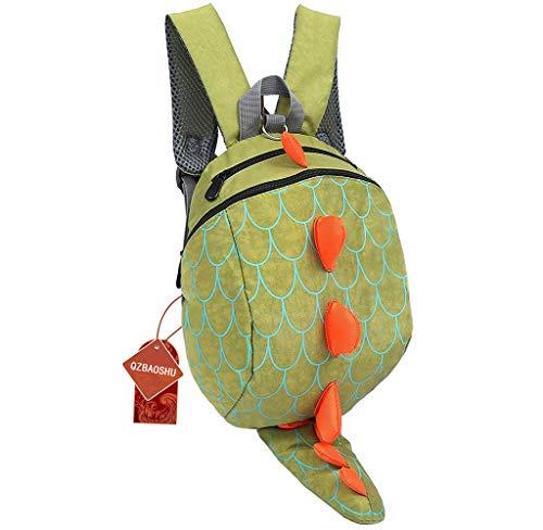 de Los Niños Perdidos-anti Arnés de Seguridad Del Bebé de Los Muchachos Mochilas chicas del Paquete Dinosaurio Bolsas (Verde)