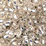 50g / 2000 beads+ / 11/0 - 12/0 Silver Lined Seed Beads - Clear - A4635 / 50g