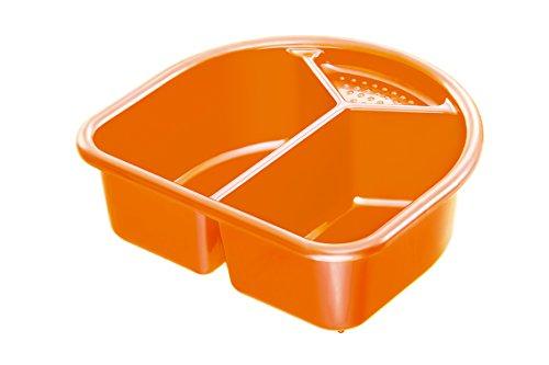 Rotho Babydesign Waschschüssel, 4l, Ab 0 Monate, TOP/Bella Bambina, Mandarin Pearl (Orange), 200060206