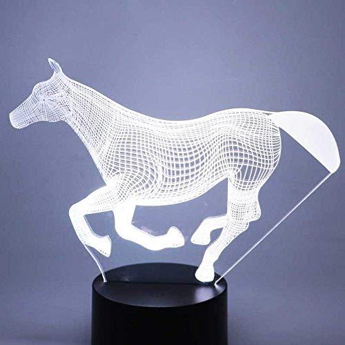 Night Light 3D Led Night Running Horse Con 7 Colori Di Luce Per La Decorazione Domestica Lampada Amazing Visualization Optical Illusion Awesome