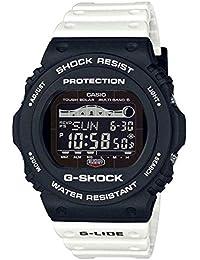 Casio GWX5700SSN-1 Men's Atomic Solar Black White White G-Lide Tide Moon Graph G Shock Watch