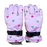 Belavig Outdoor Sport Handschuhe Jungen Mädchen Unisex Kinder Skihandschuh Winddicht Wasserdicht Winter Warme Fleece-Handschuhe