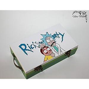 Exklusive Schatulle, Holzkästchen, Jewelry Box, Box,Schachteln, Kästchen, wood, für schmuck wood, Rick and Morty