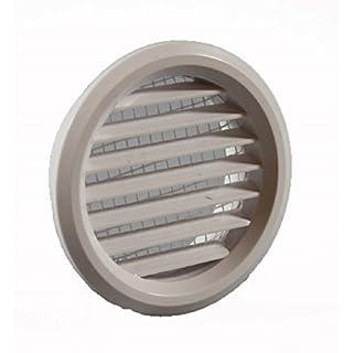 Möbellüfter rund weiß Stutzen 47 mm mit Insektenschutz