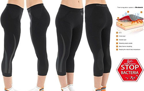 "Price comparison product image BRUBECK WOMEN FITNESS 3/4 ""INSPIRATION"" PANTS LEGGINS size L (hips 100-104cm/39.4-41in) [SP10320] EXERCISE THERMOACTIVE SEAMLESS QUICK DRY"