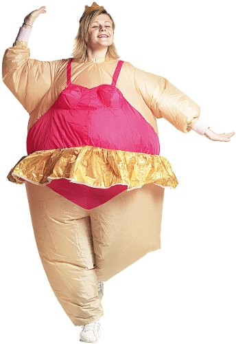Playtastic Frauen-Kostüm: Selbstaufblasendes Kostüm Ballerina (Selbstaufblasende Party-Kostüme)