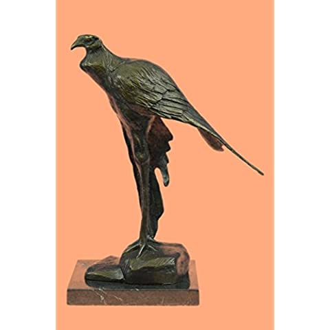 Escultura bronce estatua...Envío gratis...Firmado African Wildlife Bugatti Bird(AL-157-EU)Estatuas estatuilla estatuillas desnuda Oficina y Decoración del hogar Coleccionables Primer Día regalos
