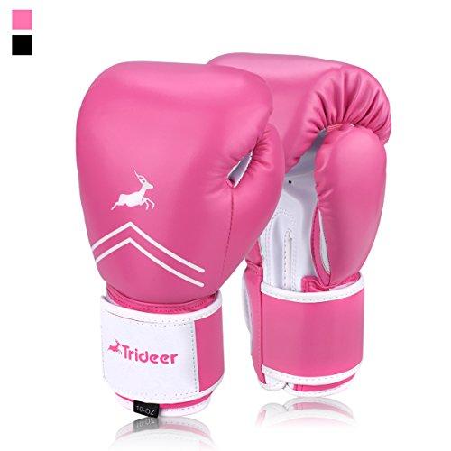 Trideer Boxhandschuhe für MMA Training Boxsack Sandsack Kampfsport Taekwondo Sparring Herren Damen (Frauen Dirt Bikes)