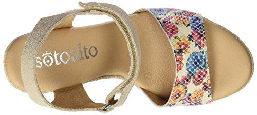 SOTOALTO - 1403505251, Sandali con cinturino Donna Multicolore