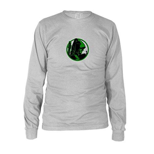 Oliver - Herren Langarm T-Shirt, Größe: L, Farbe: weiß (Green Arrow Kostüm Staffel 4)