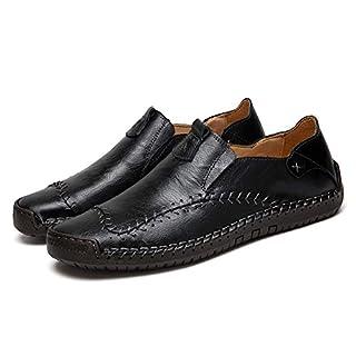 Asifn Herren Mokassin Flache Schuhe Business Slipper Anzugschuhe männer Fahren Hochzeit(schwarz,48 EU,29CM Ferse zum Zeh