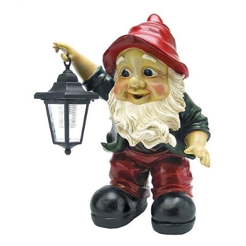 Interpet Design Toscano ql30314Edison éclairé avec la lanterne de jardin Gnome statue