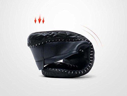 Onfly Pump Mocassin Slip On Casual Chaussures En Cuir Chaussures À Pédales Hommes Fashion Pure Couleur Anti Diapositive Soleil Doux En Relief Paresseux Chaussures De Conduite Taille Eu 38-44 Kaki
