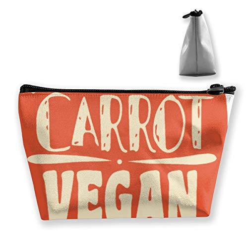 Karotte Vegan1 Tixing Trapez Reise Make-Up Tasche Kosmetiktaschen 7x12x22CM