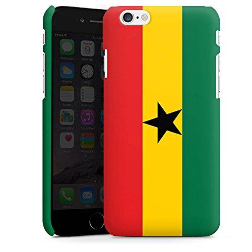 Apple iPhone 6 Silikon Hülle Case Schutzhülle Ghana Flagge Fußball Premium Case matt