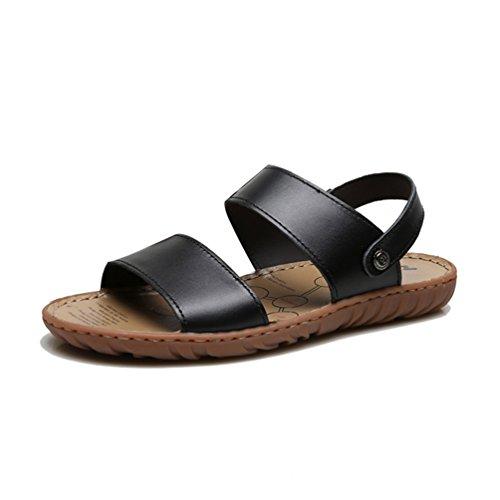 Herren Sandalen Sommer echte Lederschuhe Mode Männer
