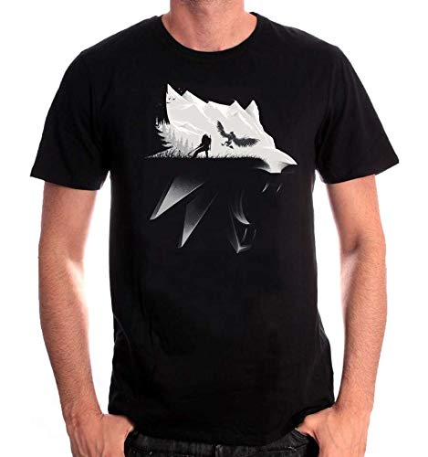 Camiseta The Witcher Wolf - M
