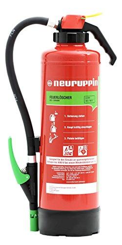 Neuruppin Feuerlöscher 6L Schaum Auflade - Löscher S6 SKP eco premium 10 LE + ANDRIS® Prüfnachweis und Feuerlöscher Symbolschild Folie