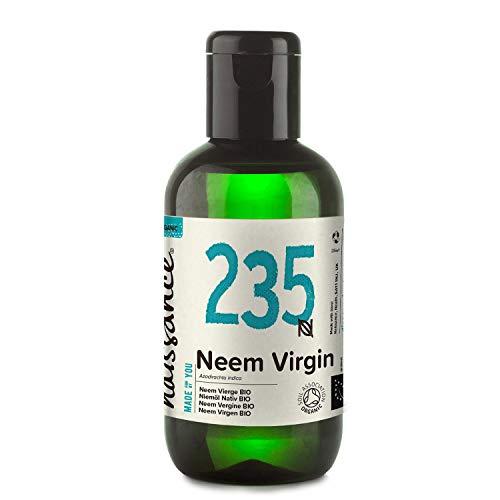 Naissance Aceite Vegetal de Neem Virgen BIO n. º 235 - 100ml - Puro, natural, certificado ecológico, prensado en frío, vegano y no OGM.
