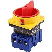 sourcingmap® AC 660V 63A ENCENDIDO / APAGADO 2 posiciones 3 Fase Giratorio leva de cambio Interruptor SZD11-63