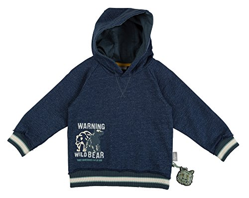 Sigikid Jungen Sweatshirt Mini, Blau (Dark Blue 200) 110 Mini Herren Sweatshirt