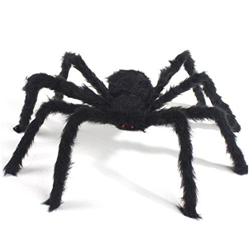 üsch Spinne Lustiges Spielzeug für Halloween Party Horror Requisiten, 120cm (Scary Spider Halloween-augen)