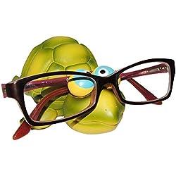 """Brillenhalter - """" Tiere aus dem Zoo """" - stabil aus Kunstharz - universal Größe - für Kinder & Erwachsene / Brillenhalterung - lustiger Brillenständer - für Sonnenbrille Lesebrille - Brillenablage / Schildkröte Flamingo Krebs Hai Fisch Garnele"""