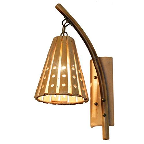 WYQLZ Style japonais créative Rétro Bambou Applique Chambre Chevet Allée Simple Escalier Décoratif Lumières