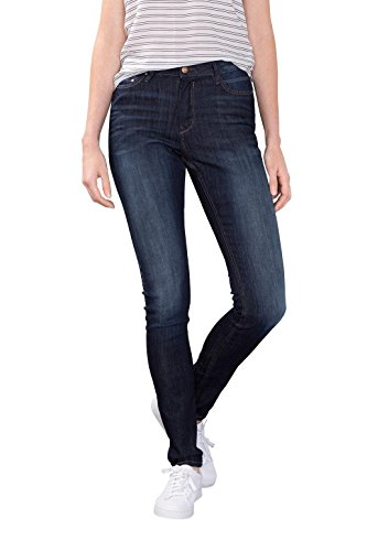 edc by ESPRIT Damen Jeanshose 996CC1B909, Blue Dark Wash 901, W30/L30 (Basic Five-pocket-jeans)