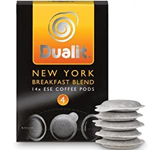Dualit New York Breakfast Blend Coffee Pods (Pack of 14)