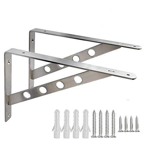 Dproptel Multifunktiuon Metall Schwerlastträger Winkel Konsole Wandregal Regalbodenträger Regalhalterung für Garden Hausdekoration (300*160mm) -