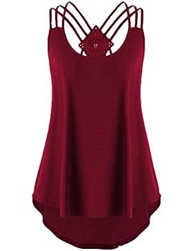 Huihong& Canotte Donna, Abbigliamento Estate Donna Alta Qualità Bende Senza Maniche Maglietta Gilet Mode Solido...