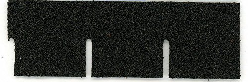 Asphalt Roofing (Dollhouse Miniature Roofing Black Square Asphalt Shingles by Alessio Miniatures)