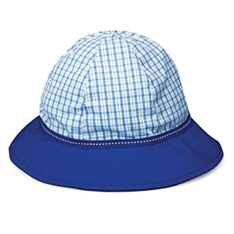 Baby Boys Wallaroo Lorikeet Sun Hat - UPF50+ High UV Protection 3-12 Months (46 cm) - Blue/Green Plaid